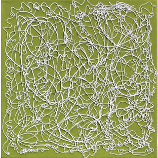 "Len Klikunas ""Olive Lace"" Original Abstract Painting For Sale"