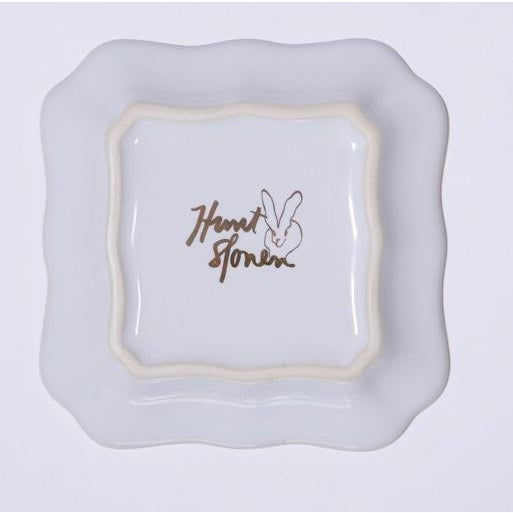 Hunt Slonem's Bunny Portrait Plates will brighten tablescape. Each measures 5.25 x 5.25 making it a perfect bread plate,...