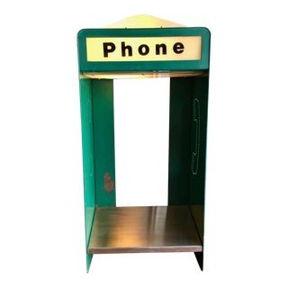 Vintage Commercial Light Up Phone Booth