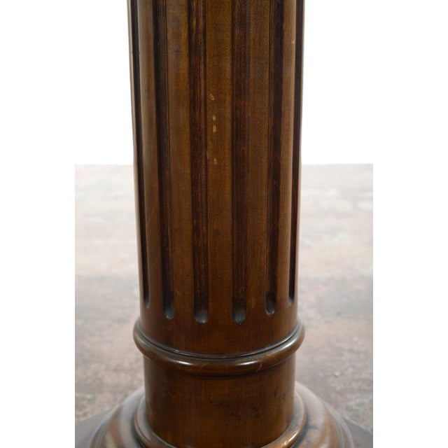 Antique Carved Colonial Walnut Pillar Pedestal - Image 4 of 10