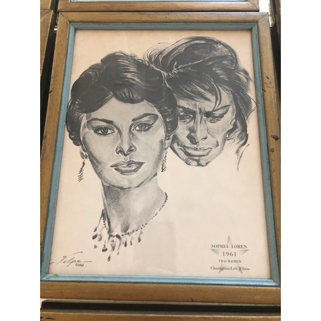 1960s Framed Portraits of Oscar Winners From 1928-1961 - Set of 25 For Sale - Image 5 of 10