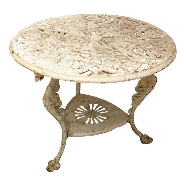 Antique Cast Iron Garden Table For Sale