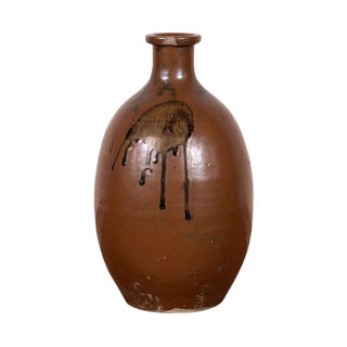 Japanese Taisho Period Tamba Watre Sake Jar For Sale