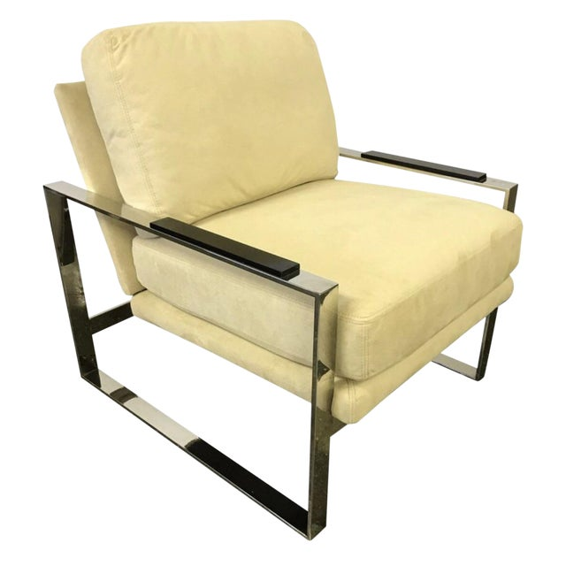 Mid-Century Chrome Cantilevered Lounge Chair For Sale