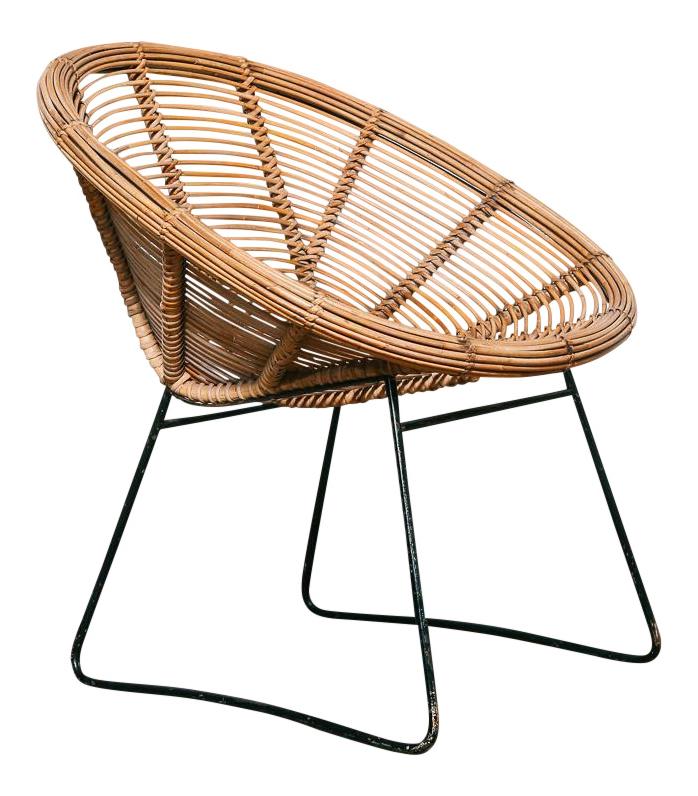 Vintage Woven Rattan Chair