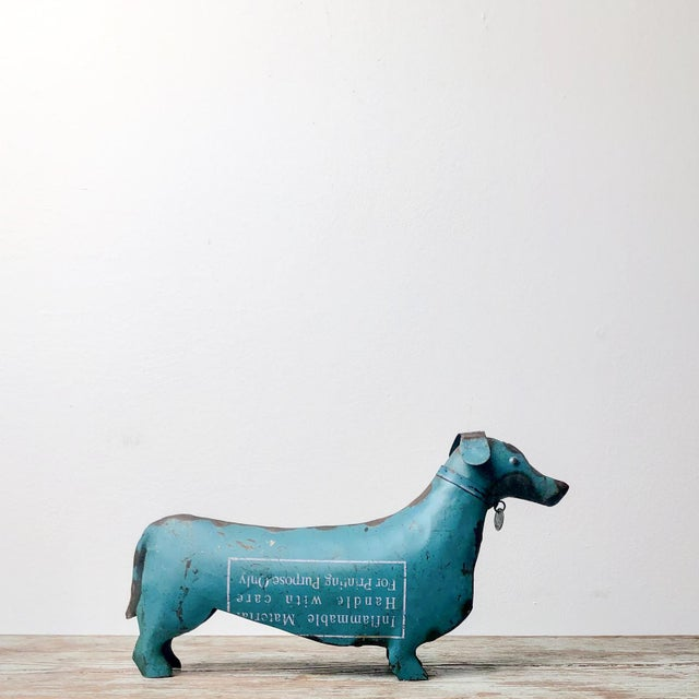 Folk Art Tole Dachshund, United States Circa 1900 For Sale - Image 4 of 6