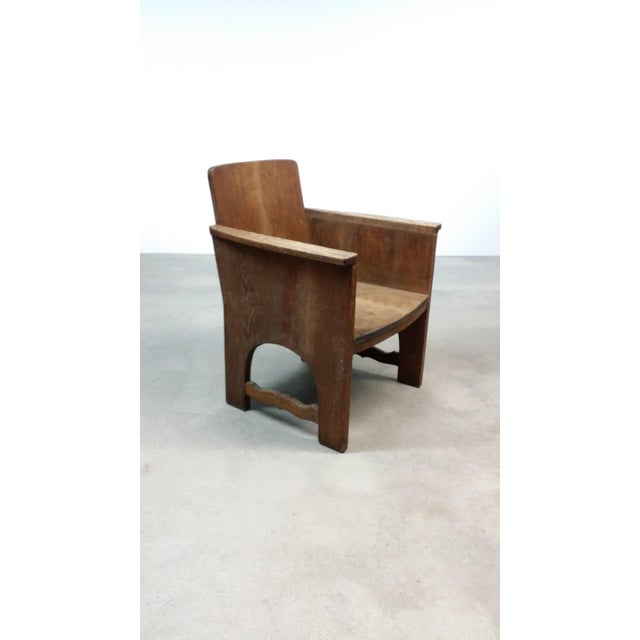 Early 20th Century Vintage Early European Arts and Crafts Chair For Sale - Image 10 of 12
