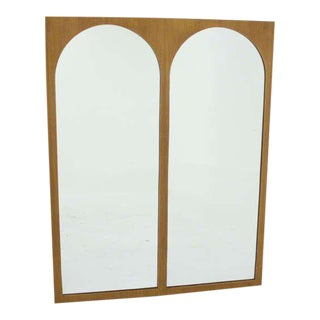 Robsjohn-Gibbings Widdicomb Walnut Double Mirror For Sale