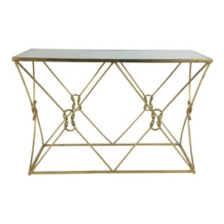 Currey & Co. Ariadne Gold Console Table For Sale