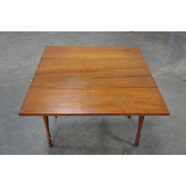 1900s Early American Style Solid Pine Drop Leaf Dining Table For Sale - Image 10 of 13