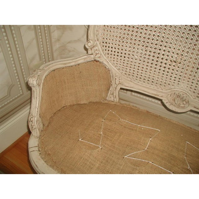 French 19th C. Hand Carved & Caned Settee - Image 8 of 10