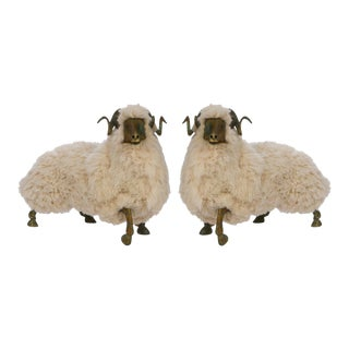 Solid Bronze & Fur Sheep Sculpture Preview