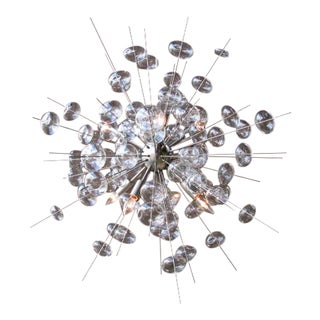 Bubbles Sputnik Inspired Chandelier by Solaria Lighting in Brushed Nickel For Sale