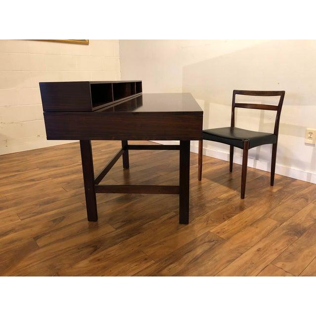 Peter Lovig Nielsen Flip Top Rosewood Desk For Sale - Image 10 of 13
