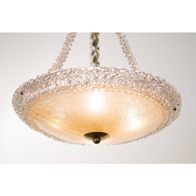 Gold Murano Glass and Swarovski Crystal Chandelier For Sale - Image 8 of 11
