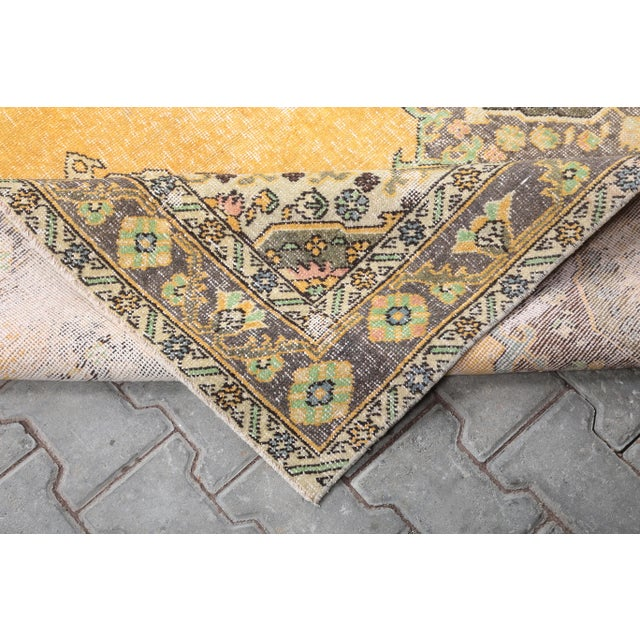 """Textile 1960's Wide Vintage Turkish Hand-Knotted Runner Rug - 5' X 12'4"""" For Sale - Image 7 of 11"""