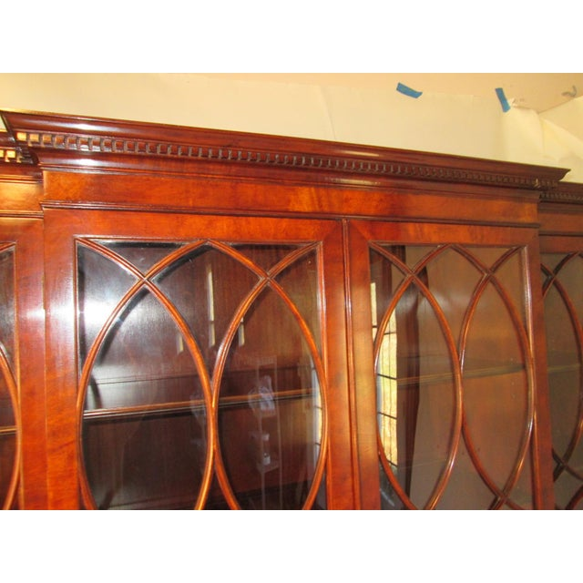 Old Colony Mahogany Breakfront Cabinet For Sale - Image 5 of 11