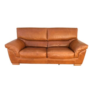 Carmel Leather Sofa Made in Italy For Sale