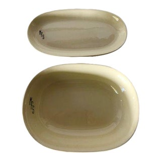 1930's Midcentury w.s George China Set of 2 Serving Bowls / Platters For Sale