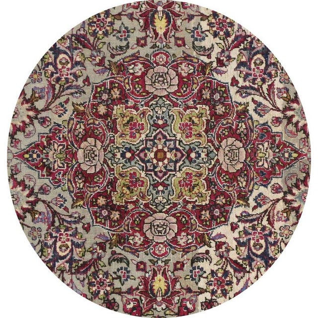Textile Late 19th-Century Antique Silk Persian Kashan with Jewel-Tone Colors For Sale - Image 7 of 10