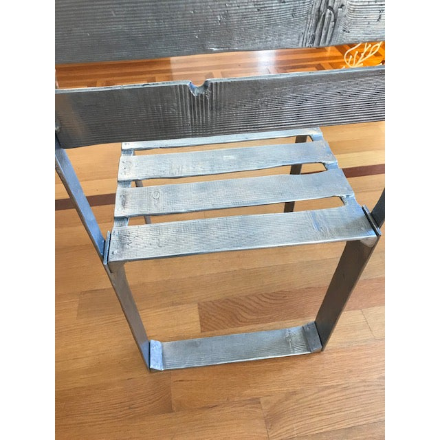 Gray Ortofrutta Table and Chairs by Andrea Salvetti For Sale - Image 8 of 9