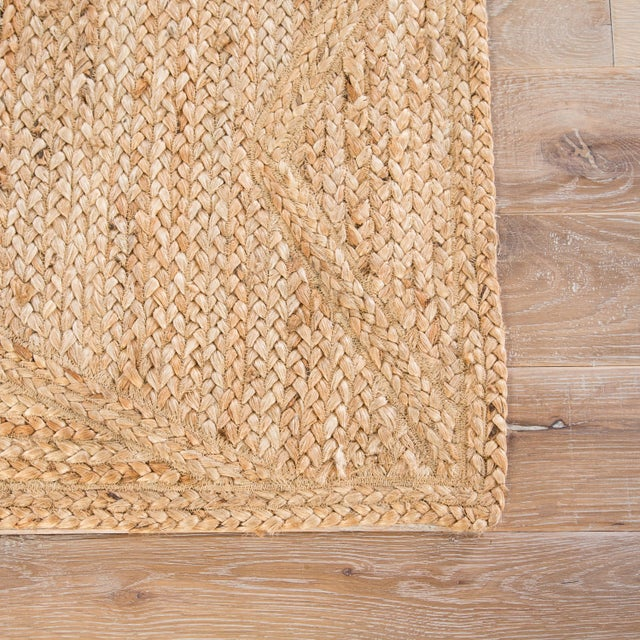 Contemporary Jaipur Living Abel Natural Geometric Beige Area Rug - 8′ × 10′ For Sale - Image 3 of 6