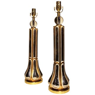 1940s Regency Style Table Lamps - a Pair For Sale