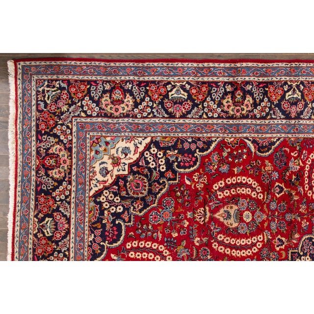 "Islamic Apadana - Vintage Persian Tabriz Rug, 9'11"" x 13'7"" For Sale - Image 3 of 5"