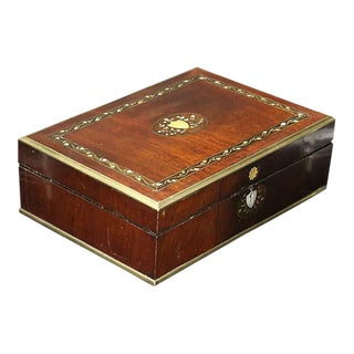 Antique Victorian Box w/ Pearl Inlay