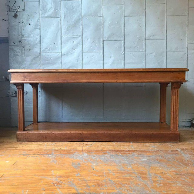 19th Century French Pine Drapers Table - Image 6 of 7