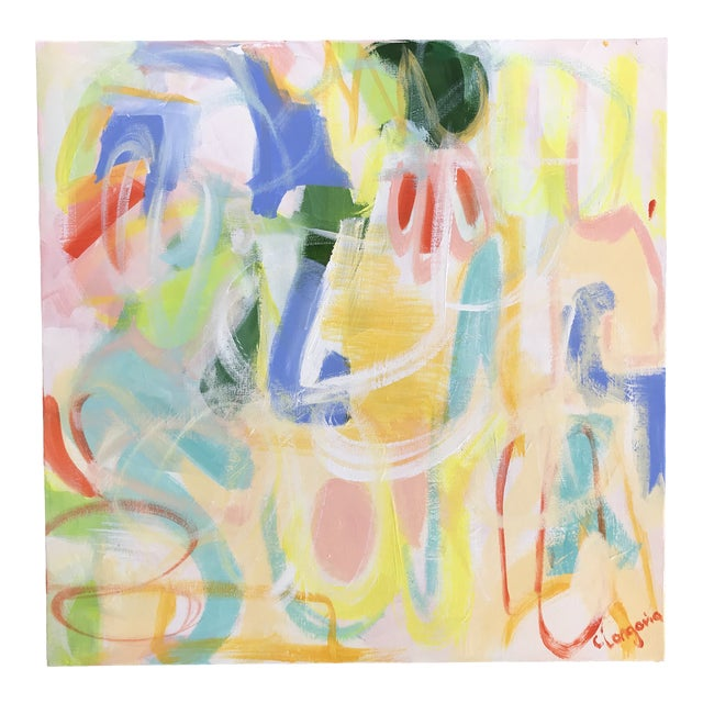 """Christina Longoria Abstract """"Fiesta 1"""" Painting For Sale"""