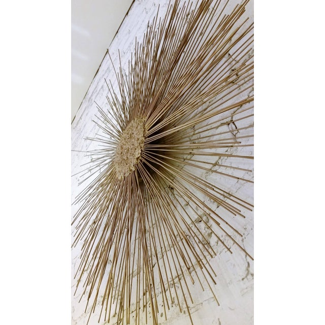 Metal Curtis Jere Style Starburst Wall Sculpture by Bruce & William Friedle For Sale - Image 7 of 8