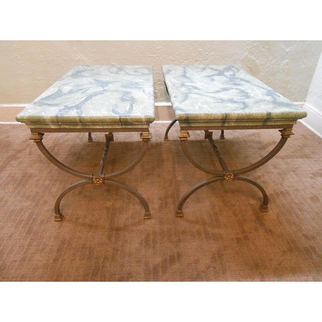 Regency Directoire X Base Iron Consoles - A Pair - Image 2 of 9