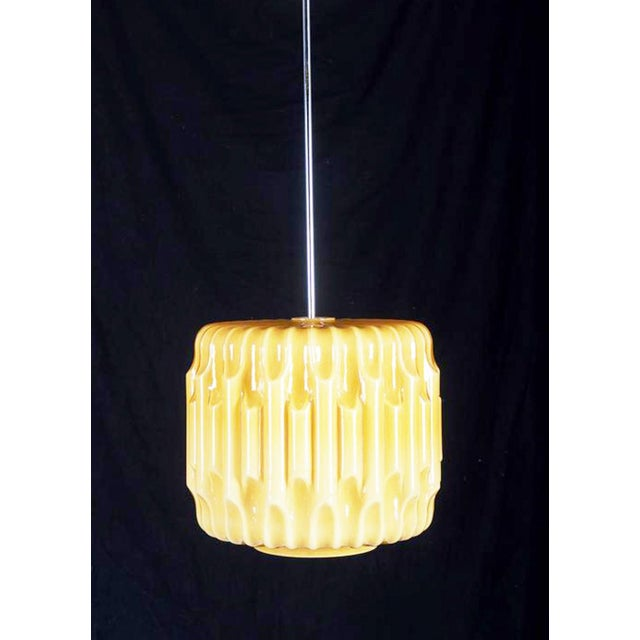 1960s Large Mid-Century Glass Hanging Lamp, 1960s For Sale - Image 5 of 8