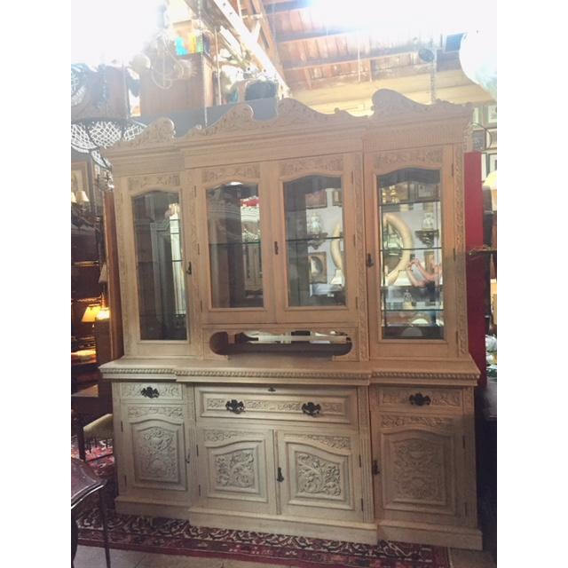 Late 19th Century English Carved Display Wall Cabinet / Secretary Desk For Sale - Image 13 of 13