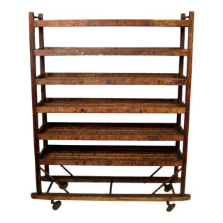 Antique Industrial Factory Shoe Rack For Sale