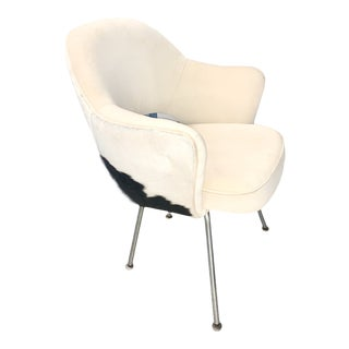 1950s No. 72 Chairs by Eero Saarinen for Knoll in Cowhide For Sale