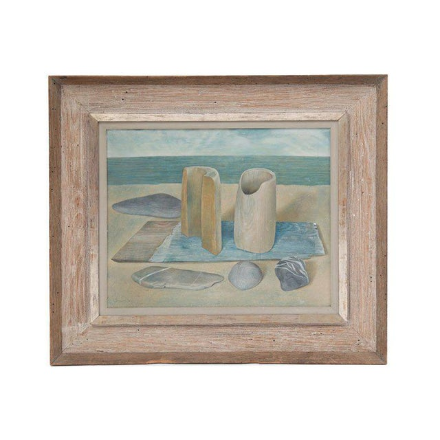 Seaside Still Life Oil Painting by Wynn Chamberlain For Sale In Phoenix - Image 6 of 6