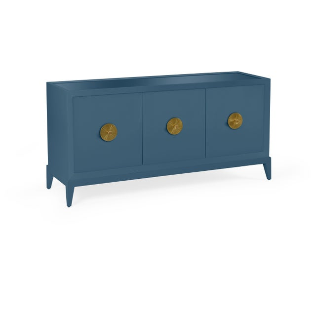 Transitional Casa Cosima Hayes Sideboard, Van Deusen Blue For Sale - Image 3 of 5