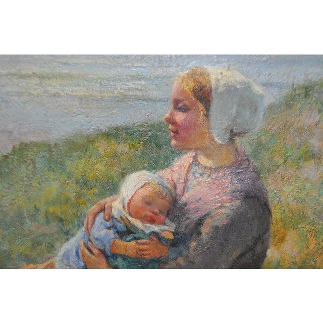 Carl Mulertt (1869-1915) Oil Painting c.1910 Beautiful original oil painting by listed artist Carl Mulertt. Known for his...