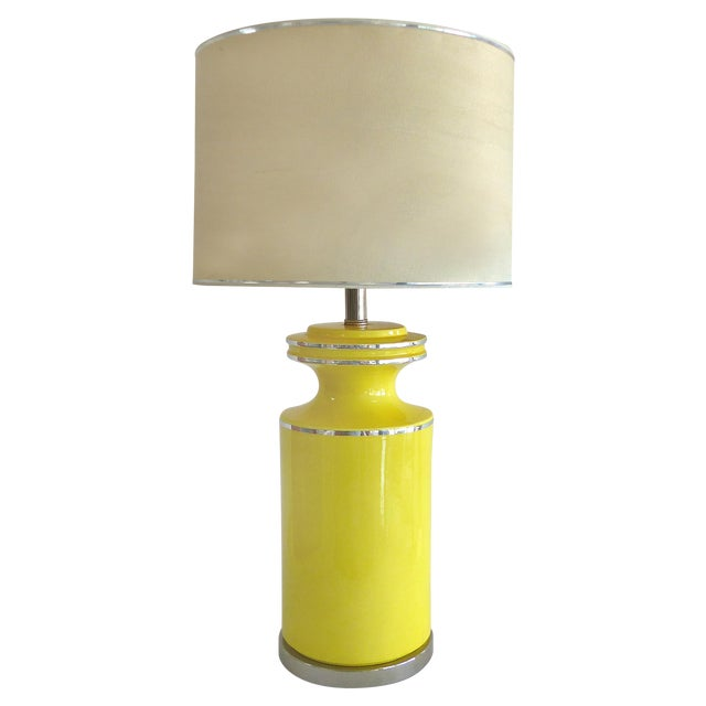 Pierre Cardin Style Glass Table Lamp - Image 1 of 7