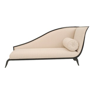 French Art Deco Beige Sleigh Recamier For Sale