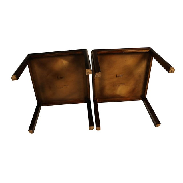 Pair Mid Century Lane Rosewood Side Tables For Sale - Image 9 of 11
