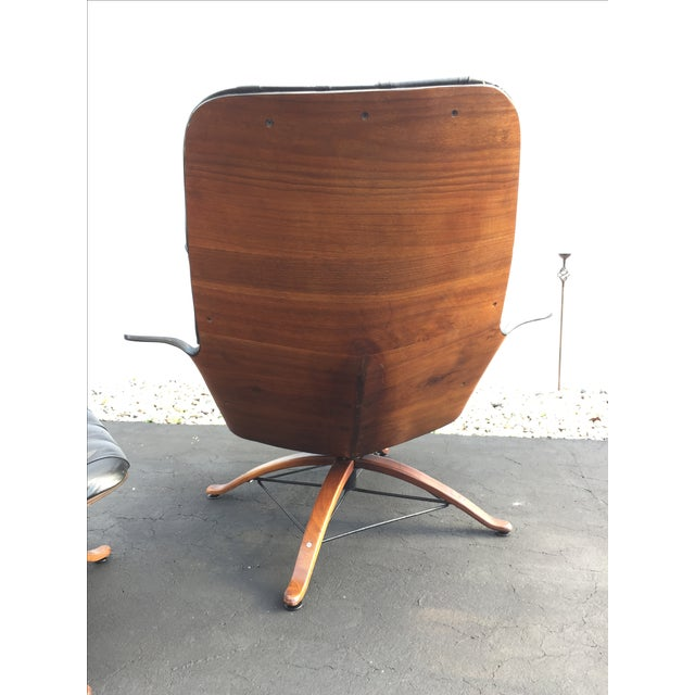 George Mulhauser for Plycraft Luxe Lounge Chair and Ottoman - Image 8 of 9