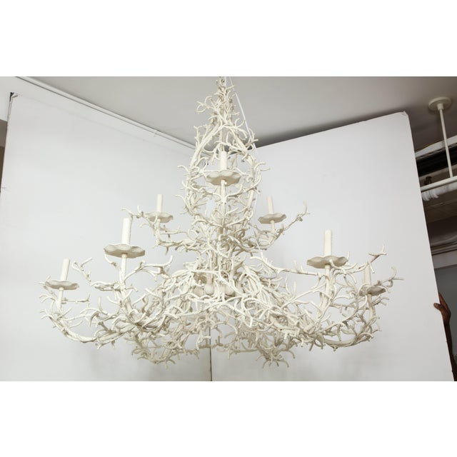 Mid 20th Century Large Nine-Arm Coral Chandelier For Sale - Image 5 of 9