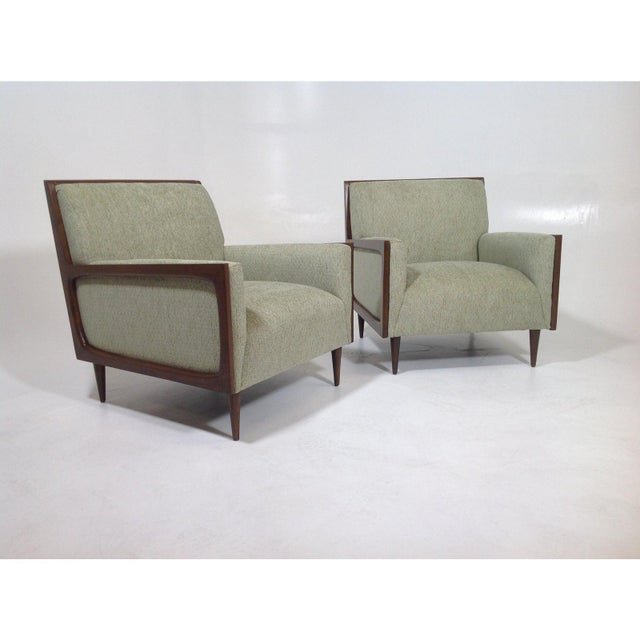 2010s Mid-Century Modern Style Lounge Chairs - a Pair For Sale - Image 5 of 7