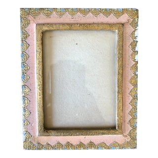 Vintage Pink Gold Florentine Picture Frame For Sale