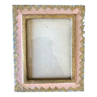 Vintage Pink Gold Florentine Picture Frame