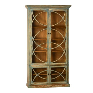 Deco Glass Door Cabinet For Sale