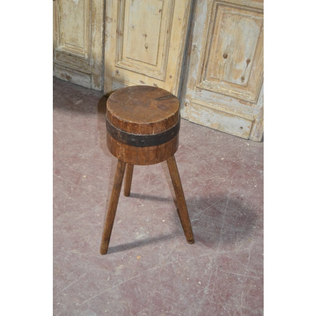 French 1900's French Butcher Block For Sale - Image 3 of 6
